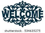 welcome lace plate. template... | Shutterstock .eps vector #534635275