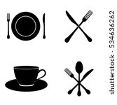 kitchen icons vector set | Shutterstock .eps vector #534636262