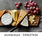 various types of cheese on... | Shutterstock . vector #534637636