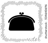 Purse  Black Vector  Icon