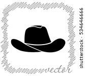 cowboy hat  black  vector icon | Shutterstock .eps vector #534646666