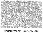 line art vector hand drawn... | Shutterstock .eps vector #534647002