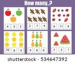 counting educational children... | Shutterstock .eps vector #534647392