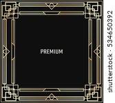 vector geometric frame in art...   Shutterstock .eps vector #534650392