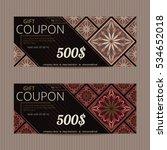 gift voucher in persian style.... | Shutterstock .eps vector #534652018