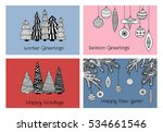 a collection of retro cards... | Shutterstock .eps vector #534661546