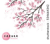 Sakura Japan Cherry Branch Wit...