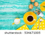 Cup Of Black Tea Or Coffee On...