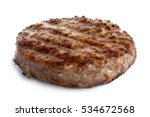 single grilled hamburger patty... | Shutterstock . vector #534672568