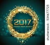 vector 2017 happy new year... | Shutterstock .eps vector #534677725
