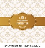 oval golden frame vector.... | Shutterstock .eps vector #534682372