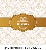 oval golden frame vector.... | Shutterstock .eps vector #534682372