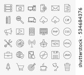 coding line icons set. vector...