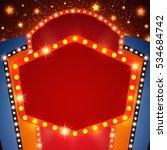 retro stage shining banner...   Shutterstock .eps vector #534684742