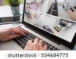 home camera cctv monitoring... | Shutterstock . vector #534684775