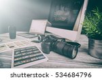photographer journalist camera... | Shutterstock . vector #534684796