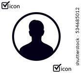 user sign icon. person symbol.... | Shutterstock .eps vector #534685012