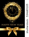Vector Happy New Year Card Wit...