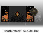 wedding invitation card...   Shutterstock .eps vector #534688102