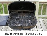 dirty barbecue pit with... | Shutterstock . vector #534688756