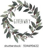 giveaway. delicate christmas... | Shutterstock .eps vector #534690622