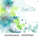 Stock vector artistic flower background 53469364