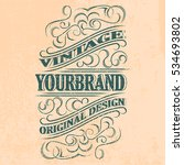 antique label  vintage frame... | Shutterstock .eps vector #534693802