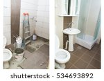 house renovation   before and... | Shutterstock . vector #534693892