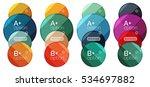 set of round option diagram... | Shutterstock .eps vector #534697882