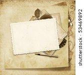 old frame on victorian...   Shutterstock . vector #53469892