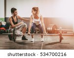 young woman exercising at the... | Shutterstock . vector #534700216