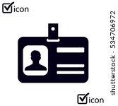 identification card icon. flat... | Shutterstock .eps vector #534706972
