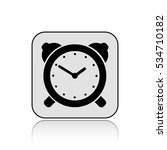 alarm clock vector icon  with... | Shutterstock .eps vector #534710182