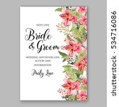 alstroemeria wedding invitation ... | Shutterstock .eps vector #534716086