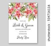 alstroemeria wedding invitation ...   Shutterstock .eps vector #534716116