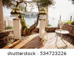 destination wedding ceremony... | Shutterstock . vector #534723226