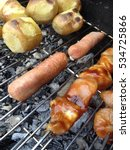 food on a barbecue | Shutterstock . vector #534725866