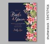 alstroemeria wedding invitation ... | Shutterstock .eps vector #534737416
