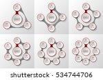 vector infographic set. data...   Shutterstock .eps vector #534744706