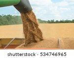 combine harvester transferring... | Shutterstock . vector #534746965