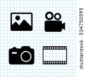 video  icon vector set | Shutterstock .eps vector #534750595