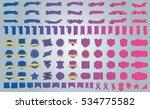 label ribbon banner blue vector ... | Shutterstock .eps vector #534775582