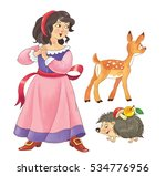 the snow white. fairy tale.... | Shutterstock . vector #534776956