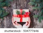 female hands holding christmas... | Shutterstock . vector #534777646