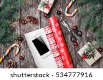 christmas composition with... | Shutterstock . vector #534777916