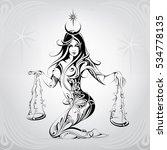 vector silhouette of the girl...   Shutterstock .eps vector #534778135