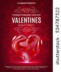 valentines day party flyer.... | Shutterstock .eps vector #534787522