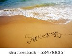 wave on beach in sanya | Shutterstock . vector #53478835