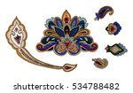 vector paisley elements set. ... | Shutterstock .eps vector #534788482