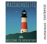 massachusetts  united states... | Shutterstock .eps vector #534789535